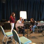 Rehearsal with Kara
